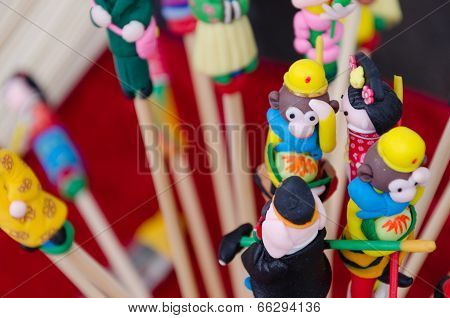 Dough figurine are the figures of the