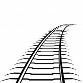 Abstract image of a railway line. Illustration on white background. poster