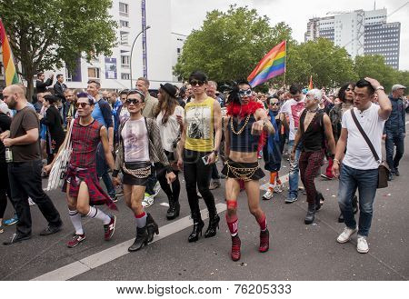 Elaborately Dressed Participants, During Christopher Street Day Parade