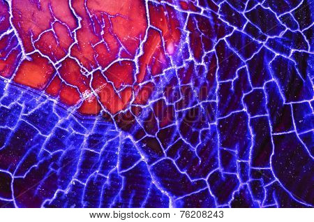 Blue Red Dragon Vein Agate Pattern