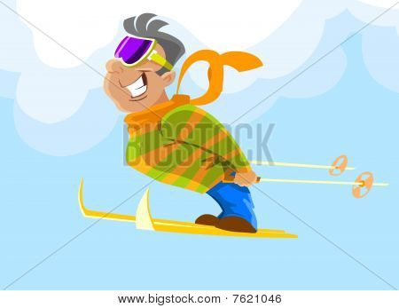 skier during a jump