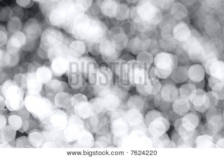 Bokeh lights on dark background in horizontal composition poster