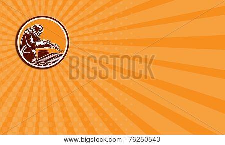 Business Card Sandblaster Sandblasting Hose Circle Retro