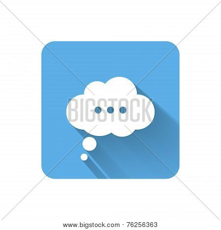 Flat Speech Bubble Icon. Vector Illustration