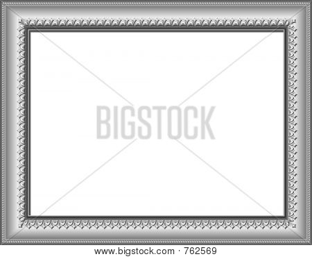Silver Frame With Clipping Path