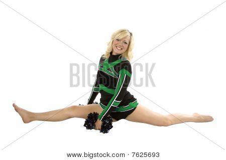 Cheerleader Splits Poms Down