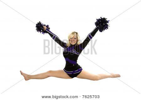 Cheerleader Splits Poms Up