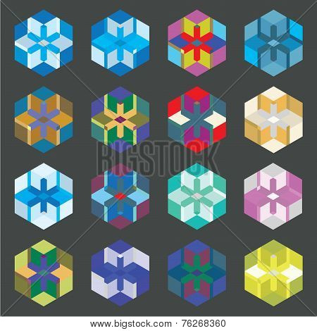 Colored Shapes Set 5