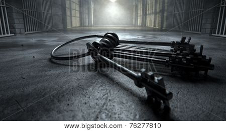 Jail Cell With Keys