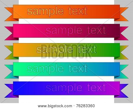 Colored clasic ribbons elements for web.