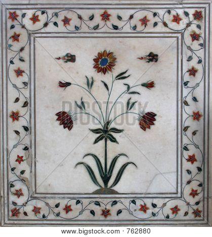 Beautiful inlaid marble