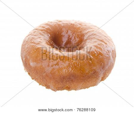 Sugary Donut On A Background