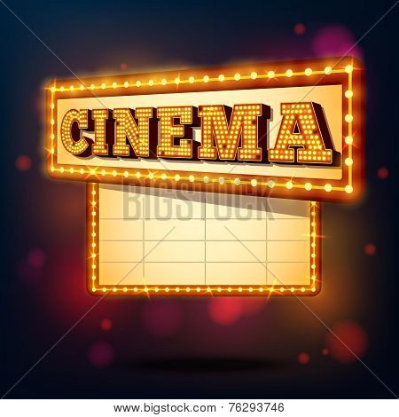 Retro cinema sign