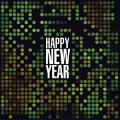 Sparkling lights new year vector template. poster
