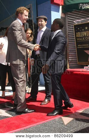 LOS ANGELES - MAR 24:  Will Ferrell, Kevin Hart at the Will Ferrell Hollywood Walk of Fame Star Ceremony at the Hollywood Boulevard on March 24, 2015 in Los Angeles, CA