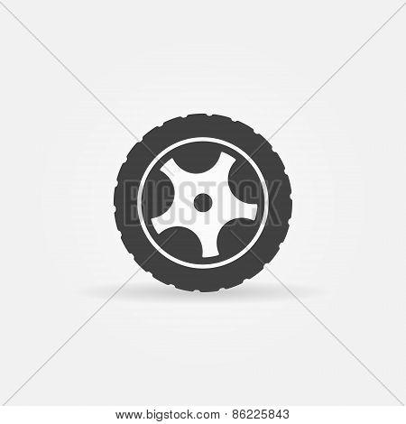 Black wheel icon or logo