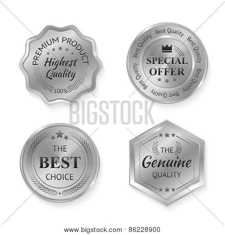 Silver Metal Badges