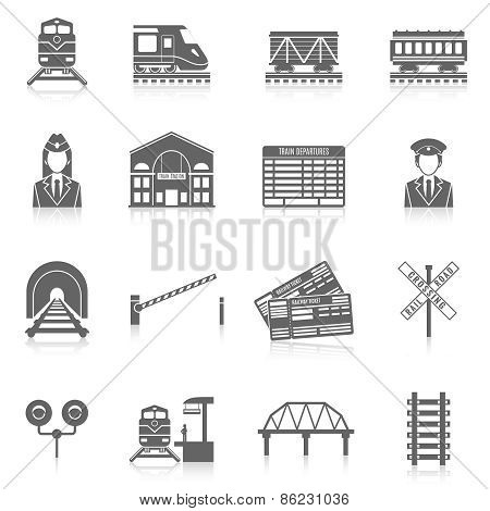 Railway Icon Set