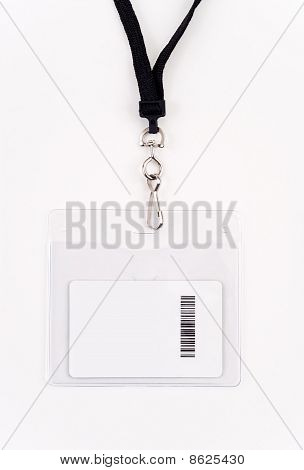 Security Access Card In Lanyard