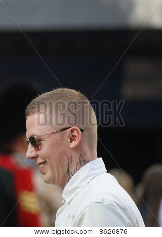Professor Green at The Expendables