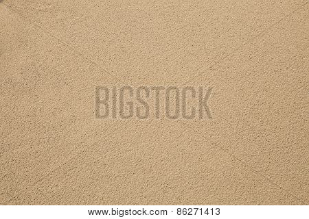 beautiful texture of sand on sea beach after rainng past use as natural background backdrop textured poster