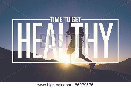 Healthy Fit Diet Activity Sport Lifestyle Purpose Concept
