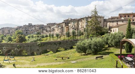 Colle di Val d'Elsa (Siena Tuscany Italy) historic city poster