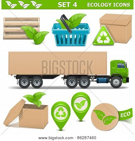 Vector Ecology Icons Set 4