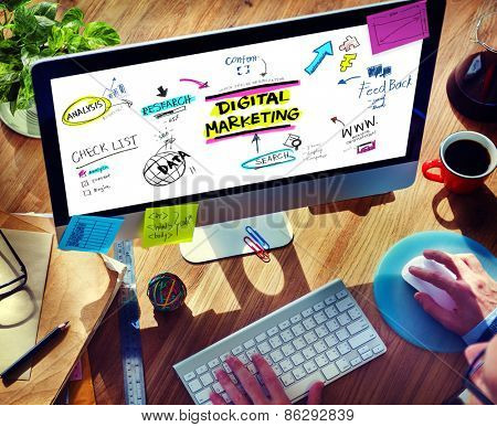 Digital Marketing Branding Strategy Online Media Concept