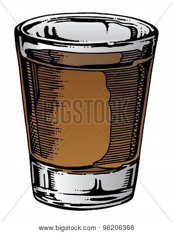 Shot Glass Hand Drawn
