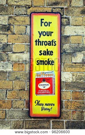Retro Old Craven Cigarettes Advert.