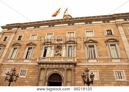 Palau De Generalitat In Barcelona..