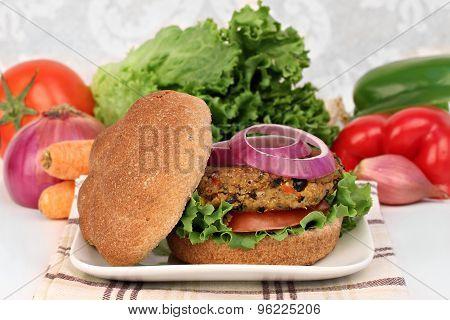 Black Bean Vegetarian Burger