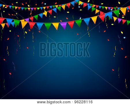 Holiday Celebration Background With A Garland. Vector.