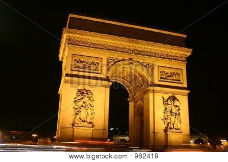 the arc de triomphe and place de l'etoile in paris poster