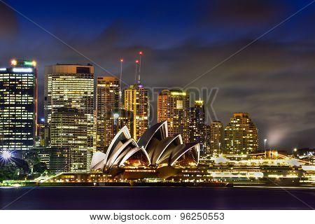 SYDNEY AUSTRALIA - July 20, 2015 : View of sunset at Sydney Opera House