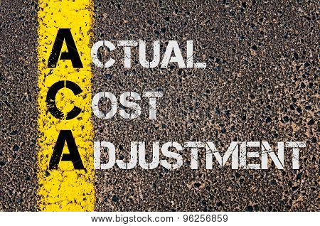 Business Acronym Aca As Actual Cost Adjustment