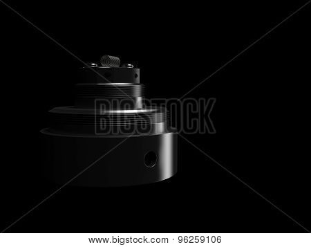 Rebuildable  Vaping Atomizer. High quality photo realistic render poster