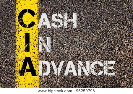 Business Acronym Cia As Cash In Advance
