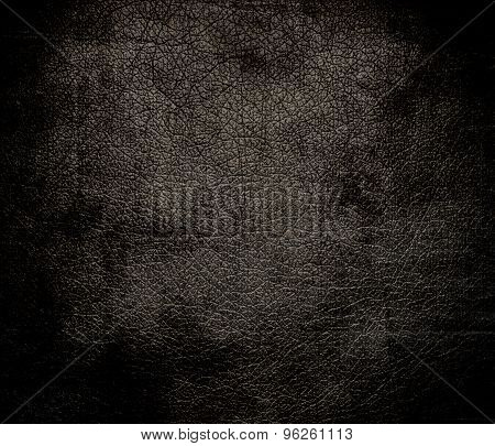 Grunge background of dark taupe leather texture