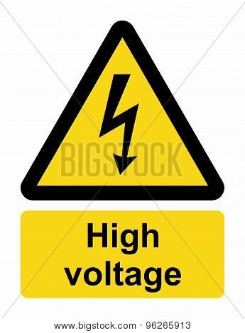 Electrical energy at voltages high enough to inflict harm on living organisms. poster