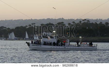 A Seaforth Sportfishing Boat, Mission Bay, San Diego
