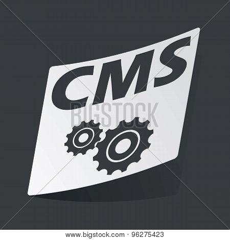 Monochrome CMS settings sticker