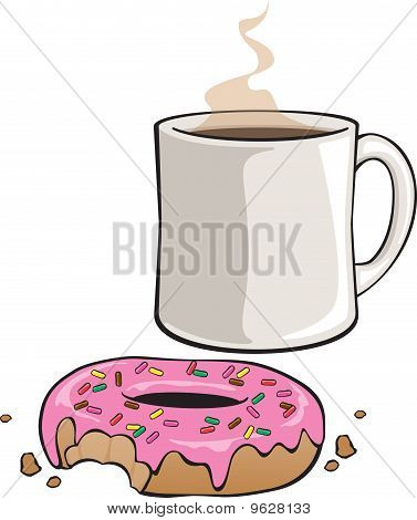 Iced Donut with Sprinkles
