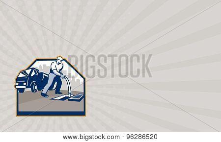 Business Card Drainage Unblocking Drain Surgeon Retro