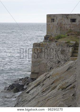 Coastal War Time Bunker Seascape