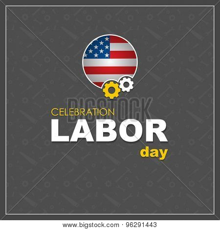 Labor day. Patriot day. Labor Day logo Poster, banner, brochure or flyer design with stylish text Happy Labor Day . Creative artwork