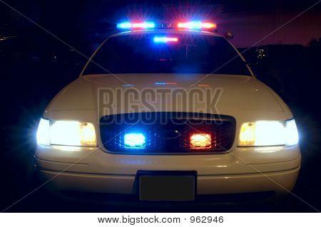 Feux de voiture de police