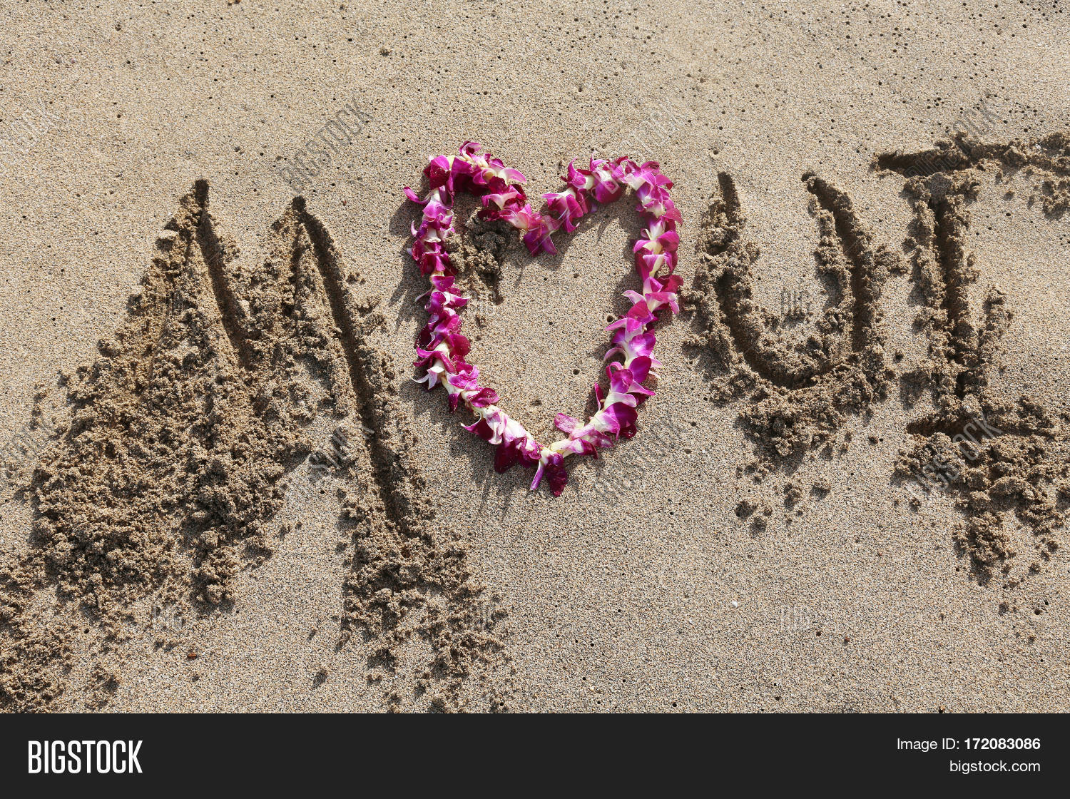Love Maui Words Love Image Photo Free Trial Bigstock