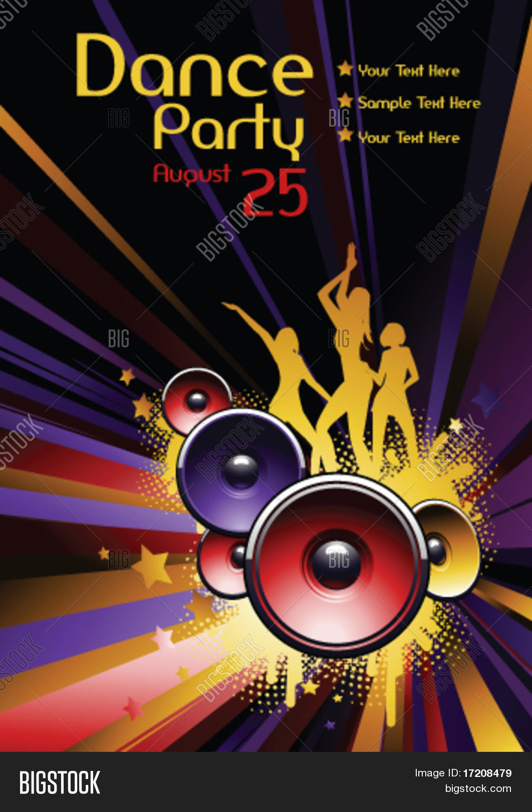 vector dance party vector photo free trial bigstock